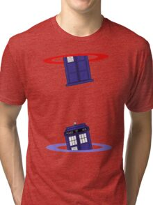 Police Box in a Portal. Tri-blend T-Shirt