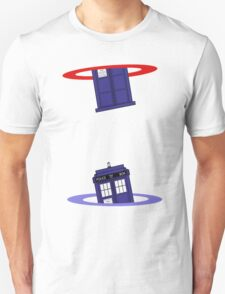 Police Box in a Portal. Unisex T-Shirt