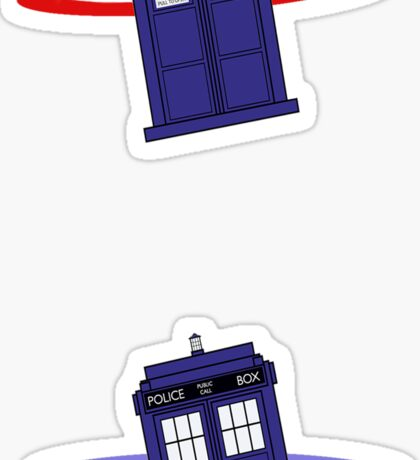 Police Box in a Portal. Sticker