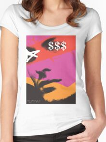 POP FACE Women's Fitted Scoop T-Shirt