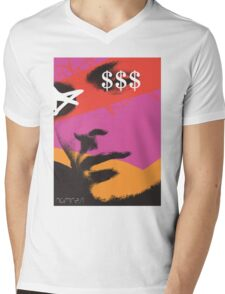 POP FACE Mens V-Neck T-Shirt