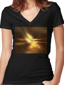 Twin Flame Women's Fitted V-Neck T-Shirt