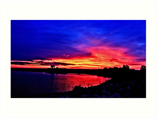 Sunrise over Denison Dam [iPhone - iPod Case] by aprilann