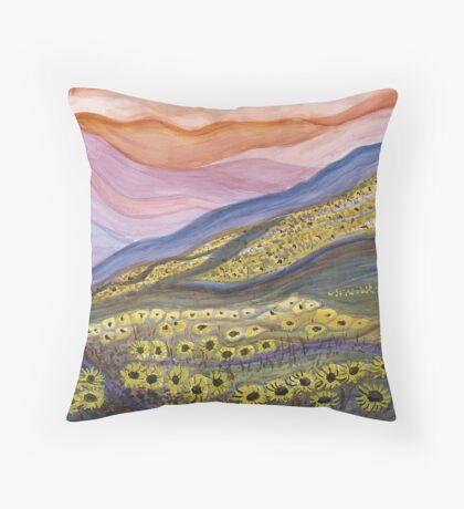 Kansas Sunflowers Throw Pillow