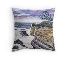 Rocky Coast Maine Throw Pillow