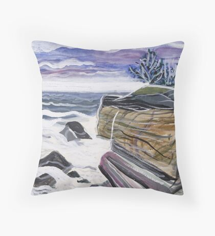 Rocky Coast Maine Throw Pillow
