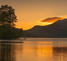 Loch Tay Sunset, Perthshire, Scotland by Cliff Williams