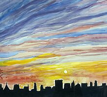 Manhattan Sunrise by lorikonkle