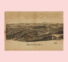 Panoramic Maps Dolgeville NY Kids Tee