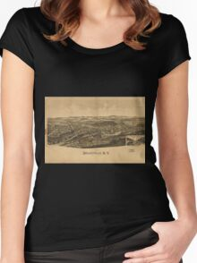 Panoramic Maps Dolgeville NY Women's Fitted Scoop T-Shirt