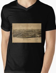 Panoramic Maps Dolgeville NY Mens V-Neck T-Shirt