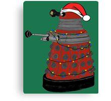 Festive Dalek. Canvas Print