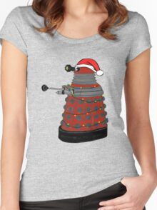 Festive Dalek. Women's Fitted Scoop T-Shirt