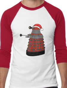 Festive Dalek. Men's Baseball ¾ T-Shirt