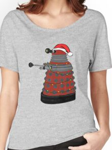 Festive Dalek. Women's Relaxed Fit T-Shirt