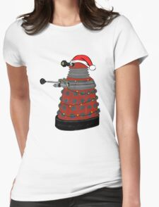Festive Dalek. Womens Fitted T-Shirt