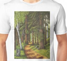 Forest road Unisex T-Shirt