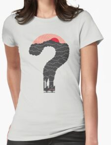 Why? Womens Fitted T-Shirt
