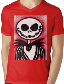 Jack Skellington Mens V-Neck T-Shirt