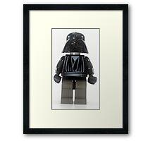 Star wars action figure Darth Vader  Framed Print