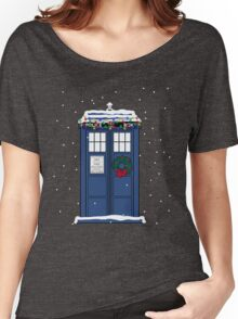 Festive Police Public Call Box. Women's Relaxed Fit T-Shirt