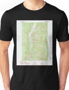 USGS Topo Map Washington State WA Louie Creek 242075 1989 24000 Unisex T-Shirt