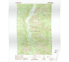 USGS Topo Map Washington State WA Louie Creek 242075 1989 24000 Poster