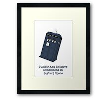 Tumblr And Relative Dimensions In (cyber)Space. Framed Print