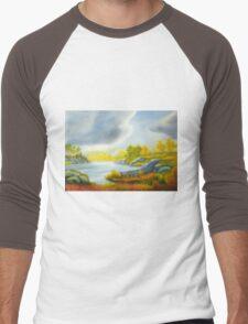 Autumnal landscape Men's Baseball ¾ T-Shirt