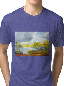 Autumnal landscape Tri-blend T-Shirt