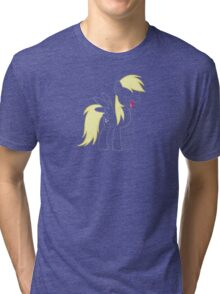 Derpy Outline w/ Solid Mane & Mouth Tri-blend T-Shirt