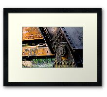 Rusted, Grungy Iron Railroad Trestle Framed Print