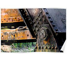Rusted, Grungy Iron Railroad Trestle Poster