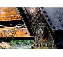 Rusted, Grungy Iron Railroad Trestle Photographic Print