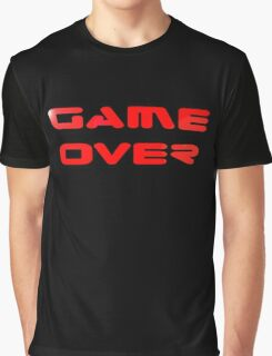 Game Over T-Shirt Sticker Video Gamers Tee Graphic T-Shirt