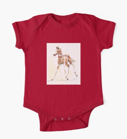 foal Pinto One Piece - Short Sleeve