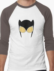 Catwoman Mask Men's Baseball ¾ T-Shirt