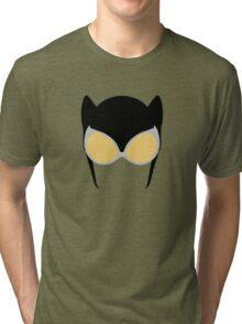 Catwoman Mask Tri-blend T-Shirt