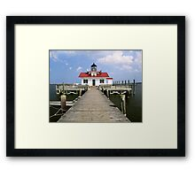 Roanoke Marshes Lighthouse, Manteo, North Carolina Framed Print