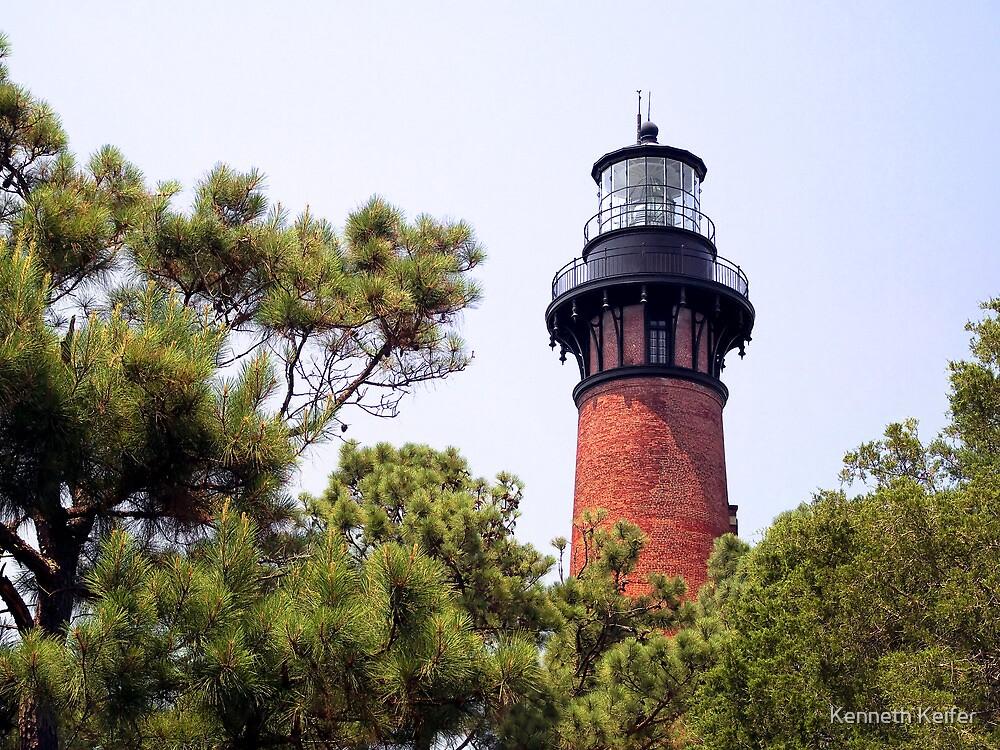 Currituck Beach Lighthouse, Carolla, North Carolina by Kenneth Keifer