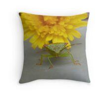 Sunny bug Throw Pillow
