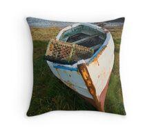 Lindisfarne boat Throw Pillow