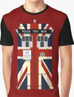Union Jack Police Call Box. Graphic T-Shirt