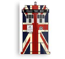 Union Jack Police Call Box. Metal Print