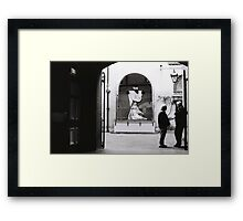 Chat at the Pietá Framed Print