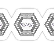 Baskerville Research Base [Triple logo] Sticker
