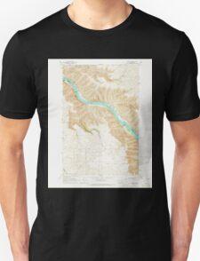 USGS Topo Map Washington State WA Bishop 240068 1964 24000 Unisex T-Shirt