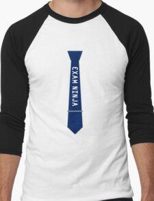 Exam Ninja Tie Design Men's Baseball ¾ T-Shirt