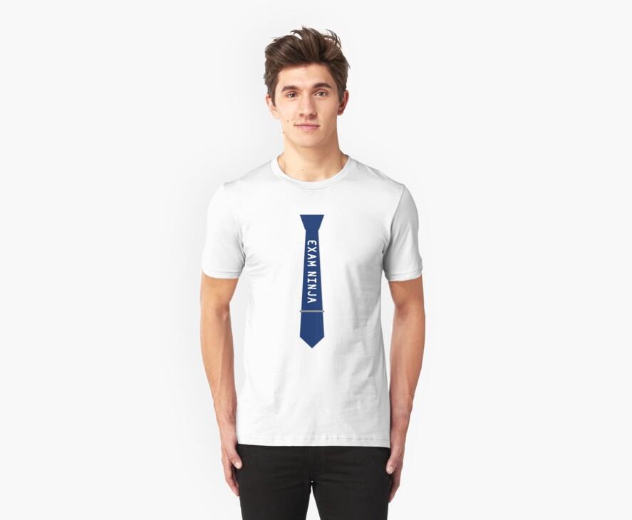 Exam Ninja Tie Design by whotv