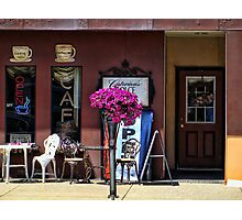Sidewalk cafe Photographic Print